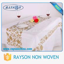 Großhandel Weiß Farbe Günstige Beige Tischdecken für Hochzeit