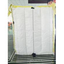 Bolso grande tejido pp de polipropileno 100%, FIBC, bolso enorme tonelada bagfor polvo de talco bajo precio por fabricante en Hebei