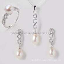 Bijoux en perles d'eau douce pour ensemble de bijoux de mariage