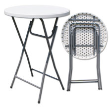 Hot Sales Modern Durable 110cm Height 80cm Round Samll Plastic Folding Bar Cocktail Tables for Events /Banquet /Party