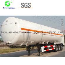 LNG Medium Tank Container Semi Trailer with 52.6m3 Volume
