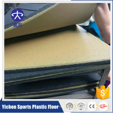 Plancher de sports de vinyle utilisé Salle de gymnastique de forme physique