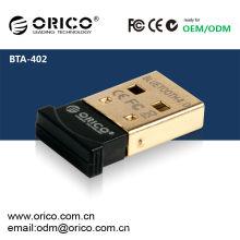 ORICO BTA-402 Adaptador Bluetooth USB CSR8510 Chip - Versão 4.0 (versão Bluetooth mais nova disponível), adaptador USB de baixa energia