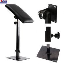 Solong China Manufacturer Black Color New Design Iron Square Bottom Arm Rest Portable Adjustable Tattoo Legrest Armrest