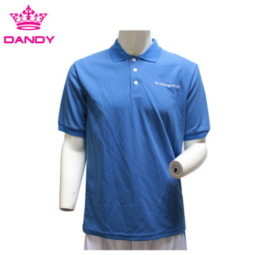 Royal Blue Mens Pique Polo πουκάμισα