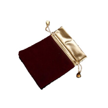 Customized Brown Fabric Jewelry Pouches (P-BV-M)