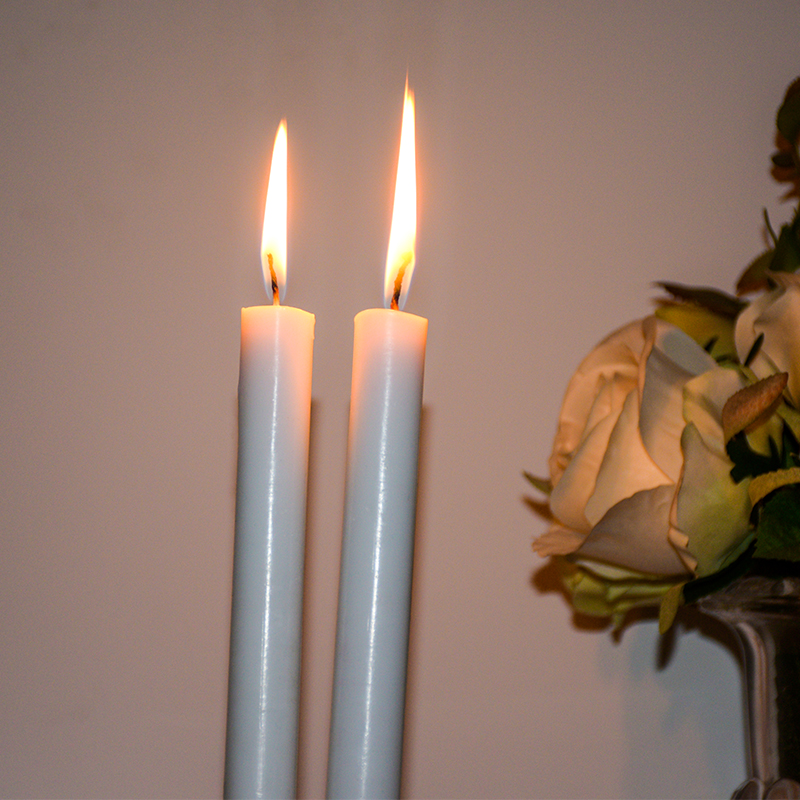 white taper candle