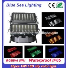 DMX 96pcs 15w rgbwa 5in 1 светодиодное освещение для наружного строительства