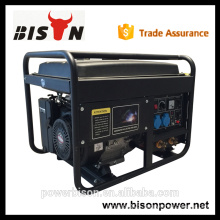 Bison China Zhejiang High Quality Gasoline Engine 6KW Portable Welding Generator 300 AMP