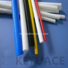 600V Silicone Rubber Coated Jalinan Fiberglass Sleeve