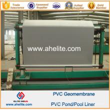 Superficie lisa Gris Azul Color PVC Geomembranes Pond Liners