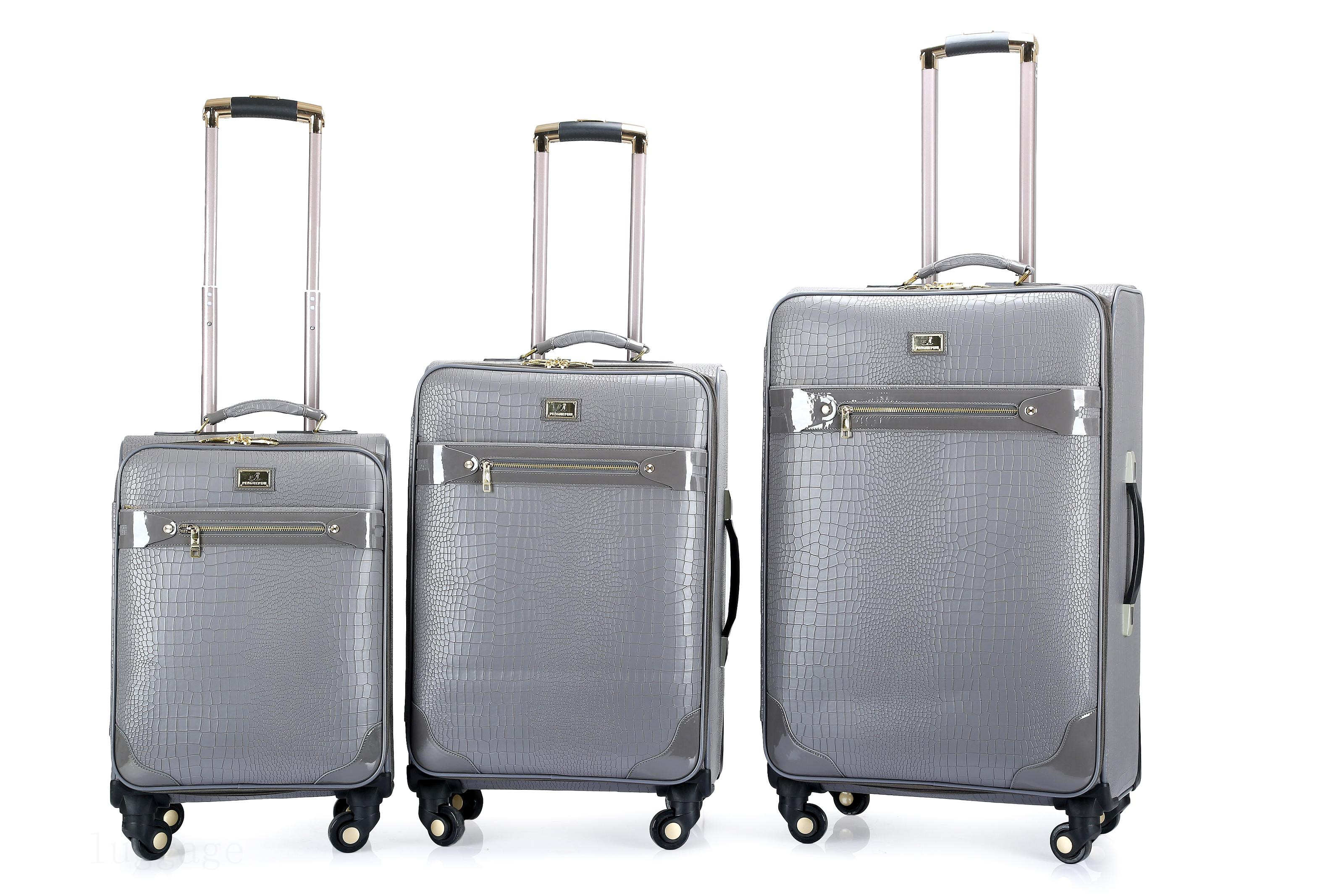 3138#PU luggage bags