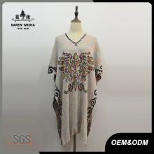 Frauen Mode Poncho Kleid Spezielle Design Kleidung