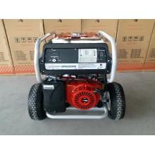 Génératrice à essence robuste 7.5kw avec 2X grandes roues pneumatiques et poignée, avec démarrage à distance