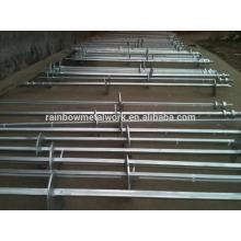 Pilas de tornillo helicoidal de acero al suelo para cimentaciones de edificios