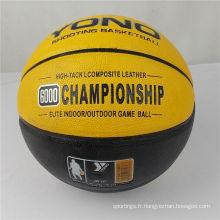 Guangzhou YONO marque basket-ball pu en cuir basket ball