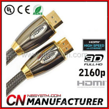 Cabo de cabo HDMI para HDTV, Home Theater, DVD player, projetor, PS3, Xbox360 e outros dispositivos HDMI