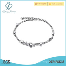 Latest anklet chain designs, thin platinium silver anklets jewelry