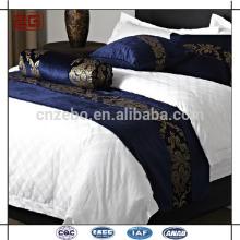 Новый дизайн Фиолетовый жаккардовый отель King Size Bed Runner
