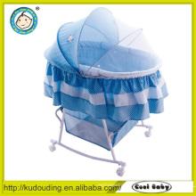 Aluminium baby bed swinging crib