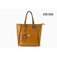 Manufacturer Fashion Designer Ladies Shoulder Purse Factory Wholesale Woman PU Leather Handbag Zxe1209