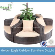 Sofa de rotin rond de meubles de jardin Set outdoor sectionnel