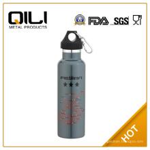 botella de agua de acero inoxidable de pared doble de 600ml