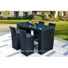 5 Pieces Rattan Garden Bar Table Set (OT18)