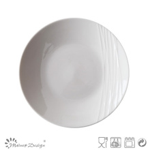 Simply White Porcelain Embossed Salad Plate
