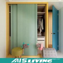 Placard de garde-robe de chambre à coucher de couleur double avec la porte coulissante (AIS-W333)