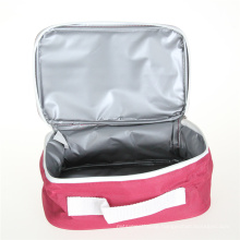 Portable OEM Eco-friendly insulated food bag customized durable cotton canvas lunch cooler bag
