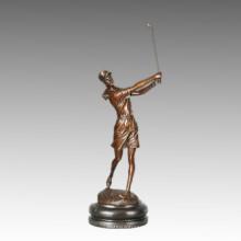 Estatua de Deportes Estatua de Bronce de Golf, Milo TPE-750