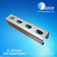 Canales de estructura perforados