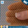 Alta qualidade 0.41mm de abertura 0.22mm latão fio de malha de rolo / net tecida