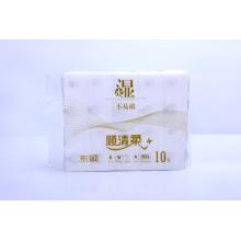 Toallitas secas desechables 100% algodón, tejido facial de limpieza suave