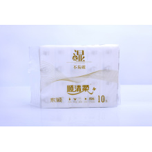 100% Cotton Disposable Non Woven Dry Wipes Soft Cleansing Facial Tissue