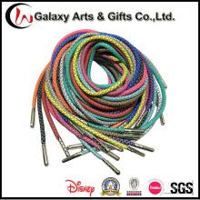 Пользовательские 3M Светоотражающая шнурки круг веревка шнурки полиэстер Refelective