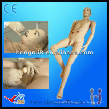 Advanced Medical Full-functional Elderly Male Patient Nursing Manikin à vendre