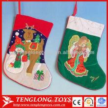 Decoración de Navidad Suministros Delicado bordar medias de Navidad