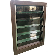 Wind ventilation with mosquito net  jalousie window glass louvers