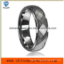 Body Jewelry Fashion Cutting Faceted Tungsten Carbide Ring