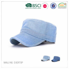 Fashion Washed Cotton Denim Military Cap
