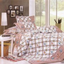 lovely cartoon apple style adult big size 75gsm 100% polyester microfiber bedsheet sets