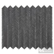 Placa para salpicaduras de azulejos de mosaico de vidrio gris ecológico