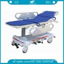 AG-HS008 deux pcs ABS mains courantes manuels hydraulique civière hôpital fabricants