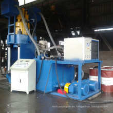 Maquinaria vertical de briquetas de virutas de aluminio de alta presión