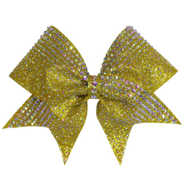 All Star White Cheer Bow