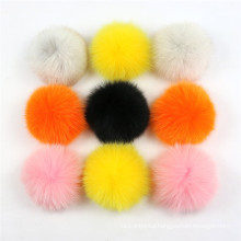 Large Size Real Fox fur Ball Natural Genuine Fox Fur Pom Pom