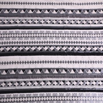 Negro Blanco 3D Borla Multicolor Lentejuelas EMbroidery Fabric