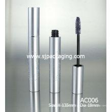 empty luxury matte aluminium mascara container